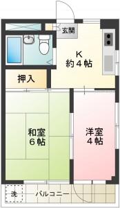403号室間取り(リノベ前)