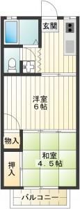 202号室間取り(リフォーム後)